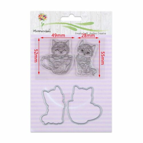 DIY Silicone Rubber Clear Stamps Metal Cutting Dies Frame Scrapbooking Crafts