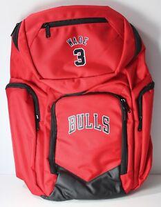 Chicago Bulls  3 Dwyane Wade NBA Traveler Backpack NWT 5 Zipper ... bbfe15b70638c