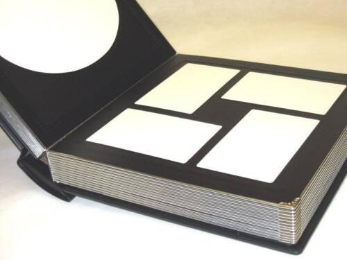 grabado disponible Profesional 10x10 Negro Plata álbum de fotos con 30 Mats