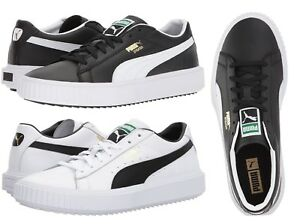 Details About Puma Breaker Gold Logo Men S Casual Fashion Sport Shoes Sneakers Black White
