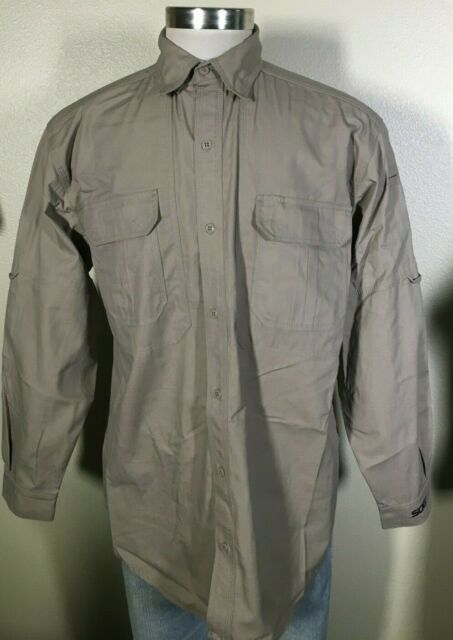 SOG Tactical Take Point Long Sleeve Khaki Vented Military Shirt Men's Large NWT