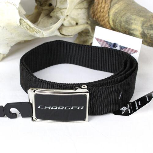 DODGE Charger LOGO MOPAR USA Web Belt NYLON cint tessuto cintura portata fino a 125cm
