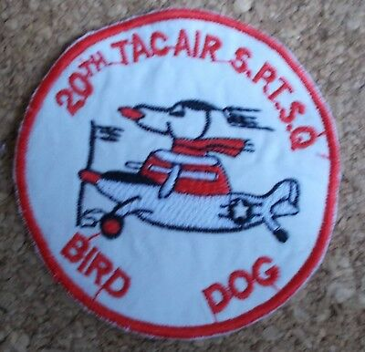 Us Air Force 20th Tactical Air Holder Squadron Bird Dog Vietnam Sale Price Hospitable Patch/patch Collectibles Militaria
