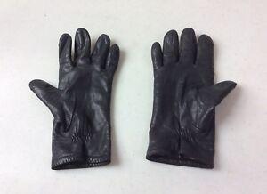 VINTAGE-Black-Leather-Driving-Gloves-Women-s-Large