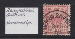 DR-Stempel-K1-034-BERGGIESSHUBEL-034-Sachsen-auf-10-Pfg-Adler-bitte-ansehen