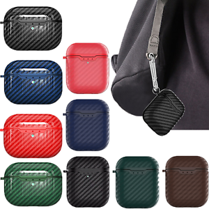 For AirPods Pro 1/2 Case Carbon Fiber TPU Shockproof Charging Skin Case Cover