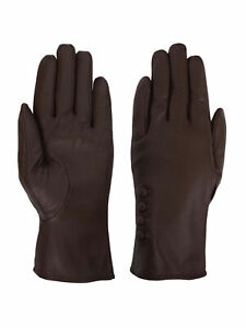 Giromy-Samoni-Womens-Warm-Winter-Plush-Lined-Leather-Driving-Gloves-Brown