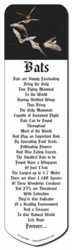 Bats in Flight Bookmark A-BAT1BM Book Mark Christmas Stocking Filler//Birthday