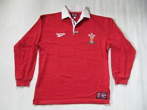Wales Reebok Herren Rugby Trikot Gr. M Shirt Jersey