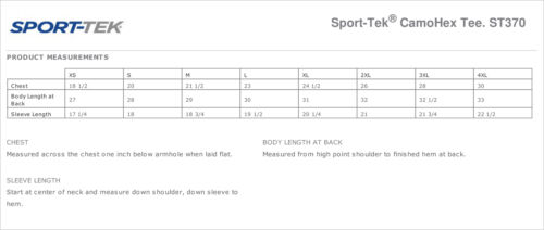 Sport-Tek Mens Dry Fit Camo Moisture Wicking Performance Workout T-Shirt M-ST370