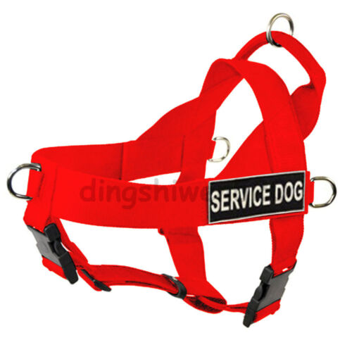 NEW service dog harness large Safe Nylon pet pitbull boxer Soft//Vest Harness