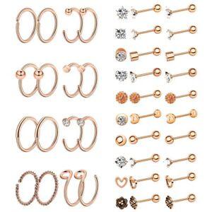 36pc-Stainless-Steel-Nose-Hoop-Ring-Ear-Stud-Cartilage-Earring-Piercings-Jewelry