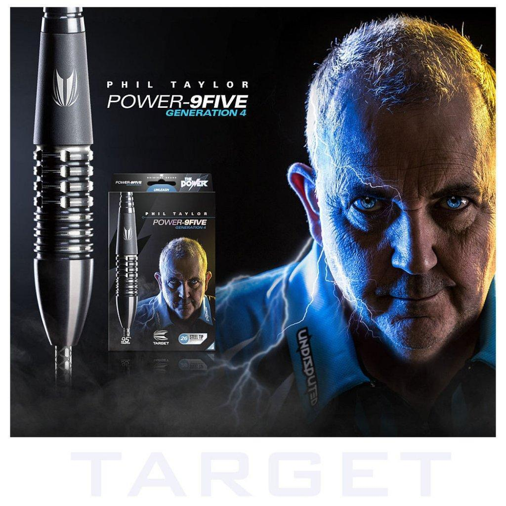 Target Steel Dart Phil Taylor The  Power 9FIVE Gen.4 Darts +Zubehör  The 22 u. 24 g 07b5f1