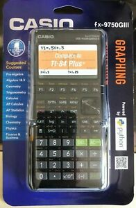 Casio-fx-9750GIII-Graphing-Calculator-Python-Black