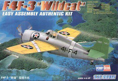 Hobbyboss 1:72 F4f-3 Wildcat 172 Kit F4f3 Assemblée échelle Authentique