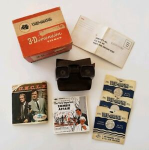 Black-Sawyer-s-View-master-Viewer-3-Dimension-w-box-and-reels