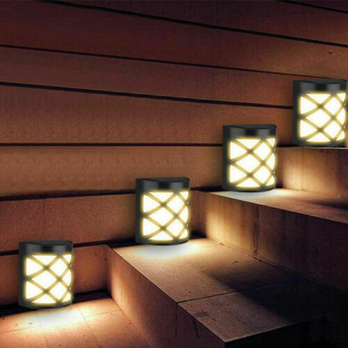 Waterproof Outdoor 6 LED Solar Wall Lights Garden Yard Path Lamp Warm White