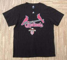 St. Louis Cardinals 2011 World Series Majestic MLB Baseball Shirt ~ Mens Large L
