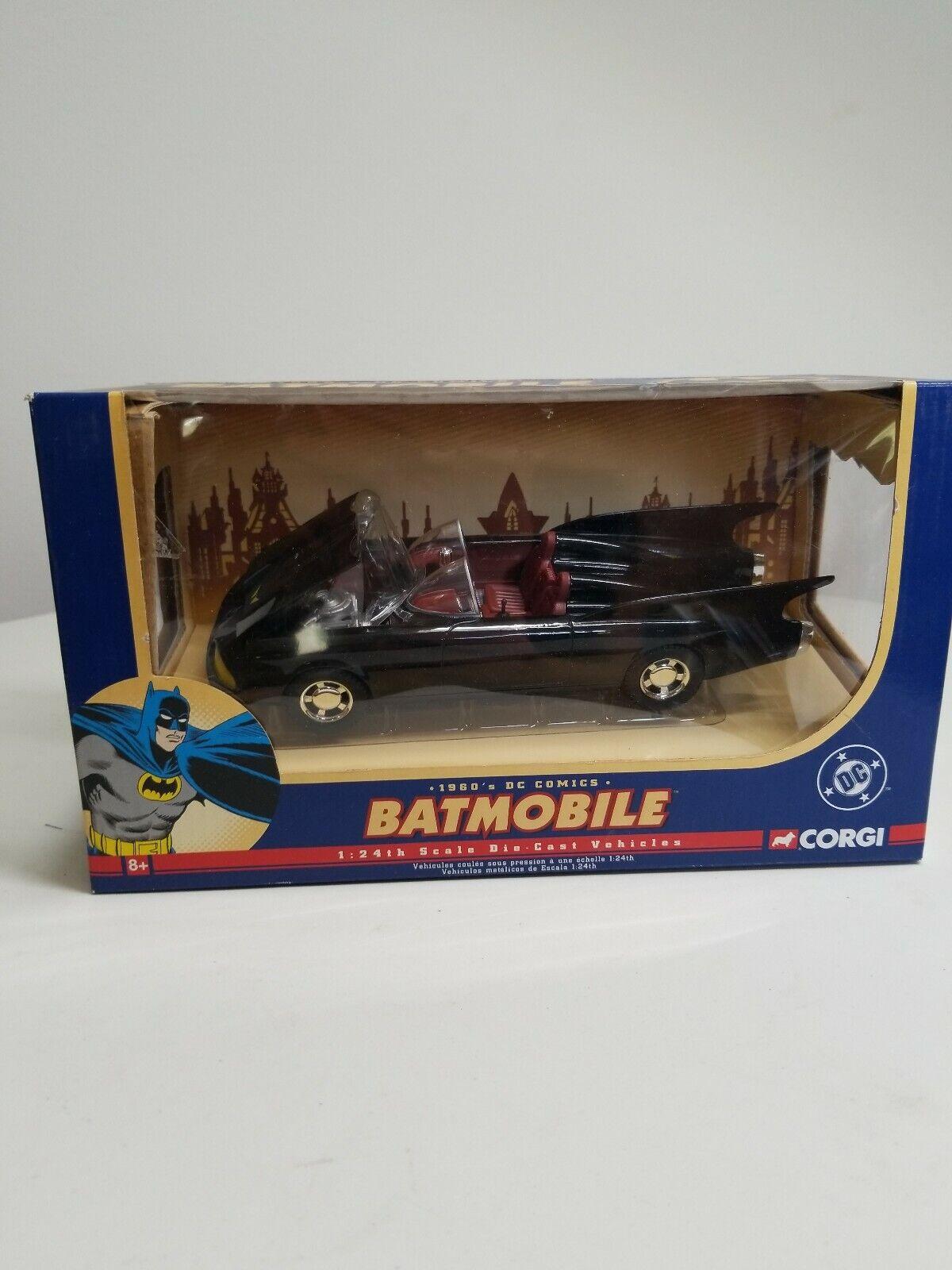Batimóvil Corgi 1960s DC Comics escala 1 24TH vehículo de fundición