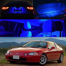 93-97 Honda Civic Del Sol BLUE Interior LED Bulb Xenon Package Dome Trunk Plate