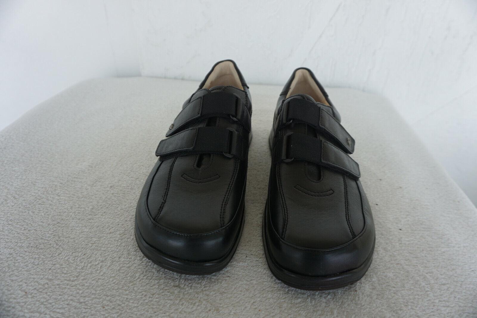 FINN COMFORT Hamburg Herren Schuhe Klett mit Einlagen Gr.8  42 schwarz Leder NEU