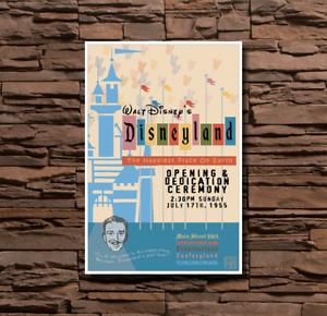 0001 Disneyland Opening Day Park Poster