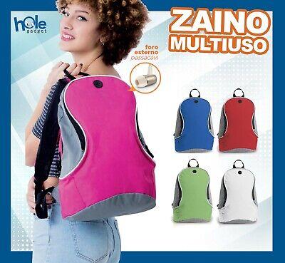 Ordinato Zaino Zainetto Uomo Donna Bambino Da Viaggio Trekking Bici Borsa Moto Blu Rosa