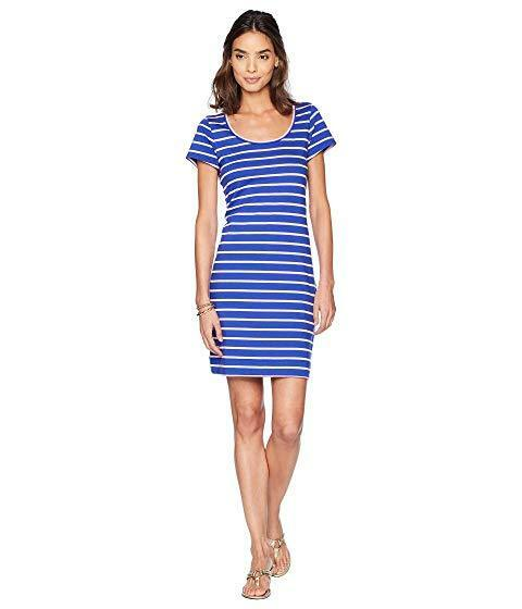 Lilly Pulitzer NWT Beacon Short Sleeve Dress Dress Dress Twilight Coastal Shell Stripe  98 S 9a99c0