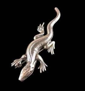 Vintage Sterling Gecko PinBrooch
