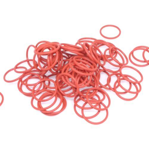 O-Ring Ø 13,2mm Schnurstärke 2,4mm DIN3771 Silikon Dichtring Oring Rot 200 St