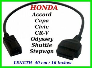 honda cr v crv diagnostic cable 3 pin connector honda. Black Bedroom Furniture Sets. Home Design Ideas
