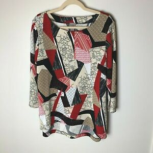 Chico's Easywear Women's Top Size 2 (Large, 12) 3/4 Sleeves Casual Work Career