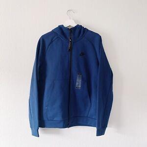 Nike-Sportswear-Tech-Fleece-Hoodie-Full-Zip-Blue-Mens-Size-M-NWT-130-Retail