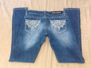 Juniors-Women-039-s-Premiere-By-Rue-21-Regular-Skinny-Denim-Jeans-Size-1-2-J-291
