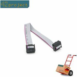 10-Pin-F-F-IDC-Anschluss-Flachbandkabel-AVR-TPI-JTAG-ST-Link-ISP-Kabel-20cm-Lang