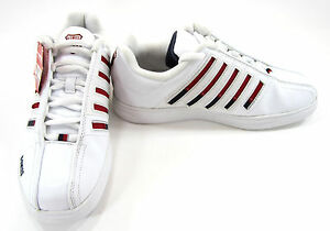 K-Swiss Shoes Varsity Low White/Red