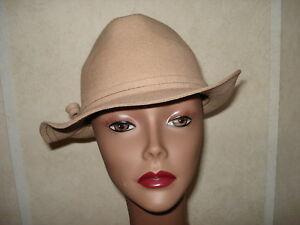 Image is loading Womens-Hat-Nine-<b>West-Brown</b>-Safari-Bush-Felt- - s-l300