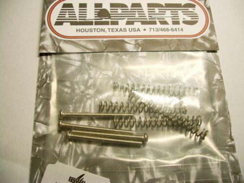 4 Allparts Schrauben für Humbucker 30mm US-Gewinde nickel inkl Federn