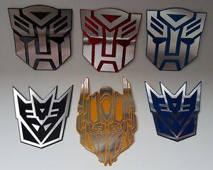 new autobots decepticons logo symbol transformers 3d car decal