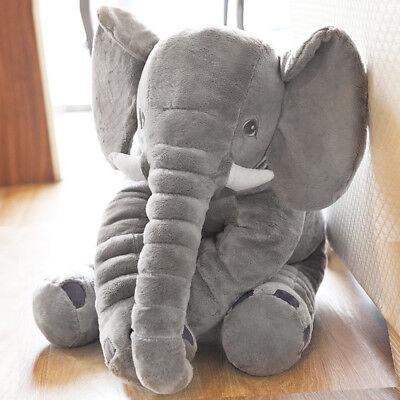Suave almohada elefante niños peluche muñeca bebé niño amortiguador nariz lumbar