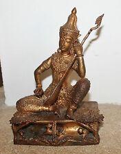 jolie statuette en bronze doré de Thaïlande  chine asiatique ( bouda )