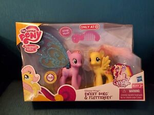 """My Little Pony """"Sweet Song & Fluttershy"""" 2 Pack by Hasbro 2012 Mint!"""