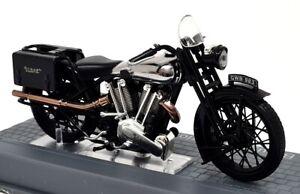 Ixo 1/24 Scale appx 8cms Brough Superior SS100 1926 + Plinth Model Motorbike