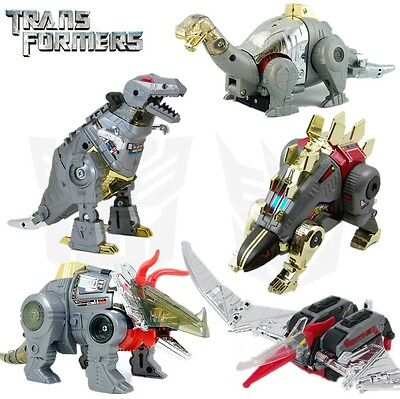 Set 5 Transformers G1 Dinobots Swoop Grimlock Slag Snarl Sludge Reissue Toy