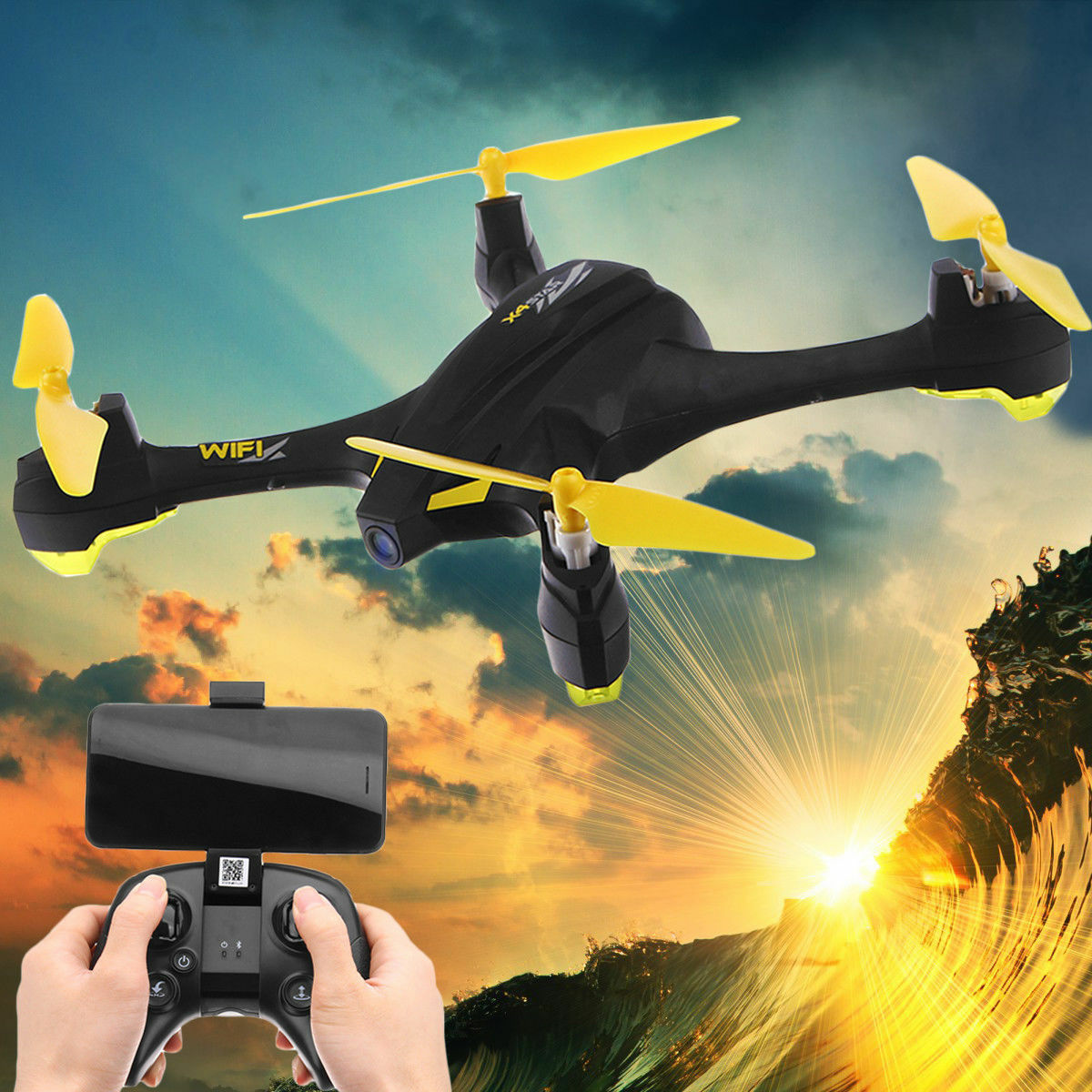 Hubsan H507A+ FPV Plus RC Quadcopter Headless 720P Follow  Me GPS APP+Transmitter  l'intera rete più bassa