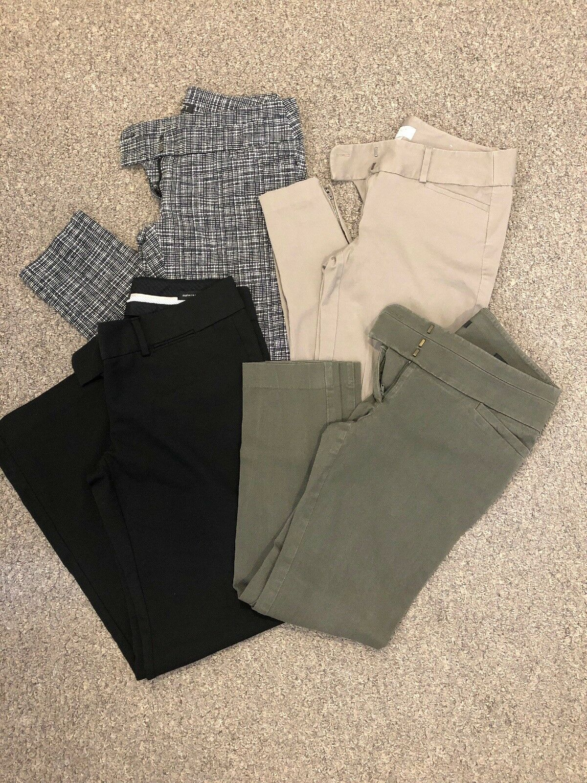73bfec2978bc1 Lot Of 4 Pair Of Ann Taylor Loft Pants Pants Pants Size 2 And 4 5d8480