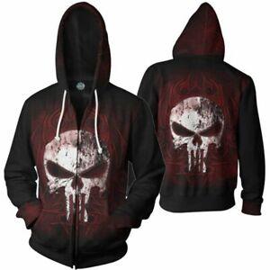 The Punisher Jon Bernthal Frank Castle Punisher Hoodies Sweatshirt Pullover Coat
