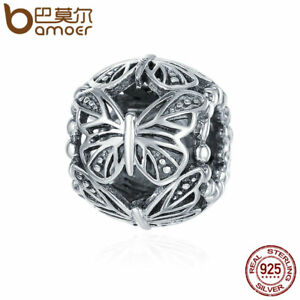 BAMOER-Retro-925-Sterling-silver-Charm-butterfly-Hollow-Bead-Forbracelet-Jewelry
