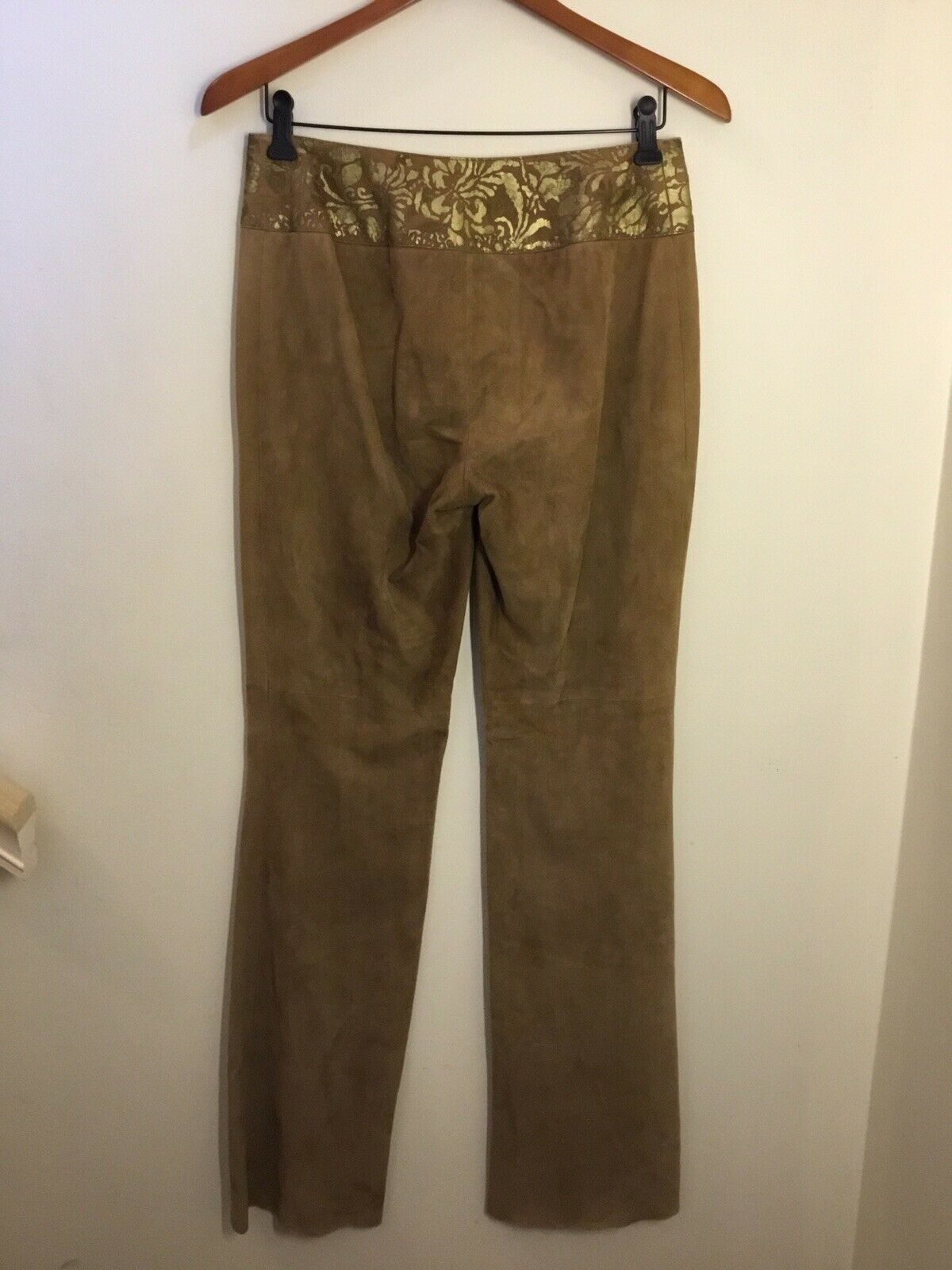 Ralph Lauren Black Label Gold Painted Brown Suede… - image 9