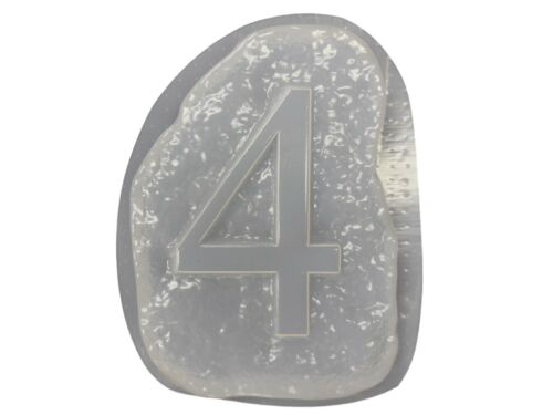 Number 4  Stepping Stone Plaster or Concrete Mold  1232 Moldcreations